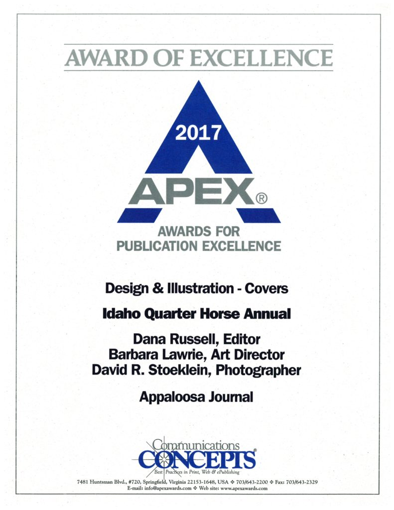 2017 APEX award